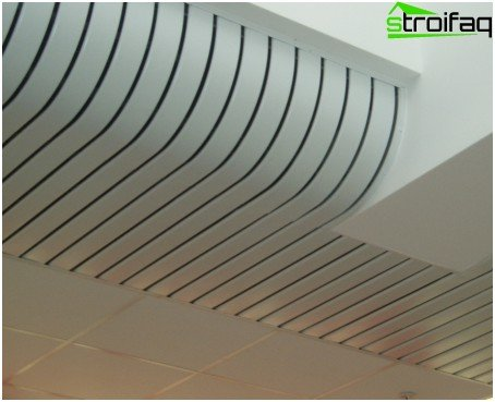 Curved rack ceiling