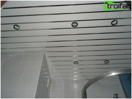 White rack ceiling