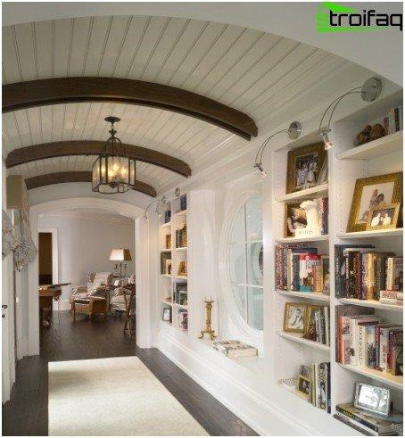 Rack ceiling hallway