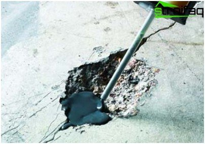 Elimination of cracks in the concrete floor