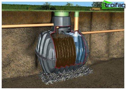 Suburban septic tank
