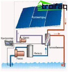 Solar collector for swimming pool