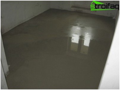 Cement-sand screed