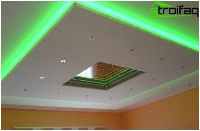 Installation of LED ribbon