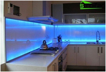 LED strip for the kitchen