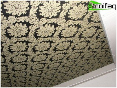 Stretch ceiling of seamless fabric