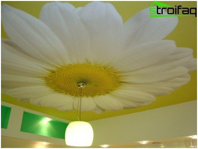 Seamless tension ceiling