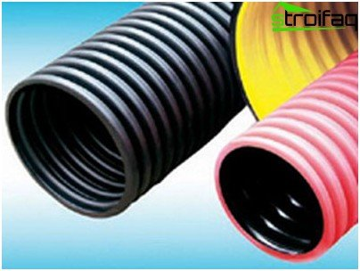 Corrugated pipes differ in ease of installation