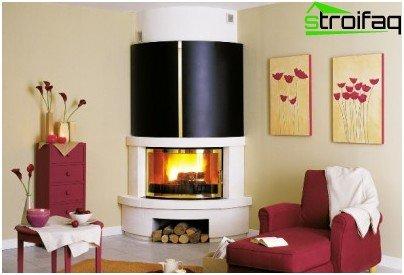 Fireplace corner