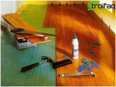 Tools for installation of laminate