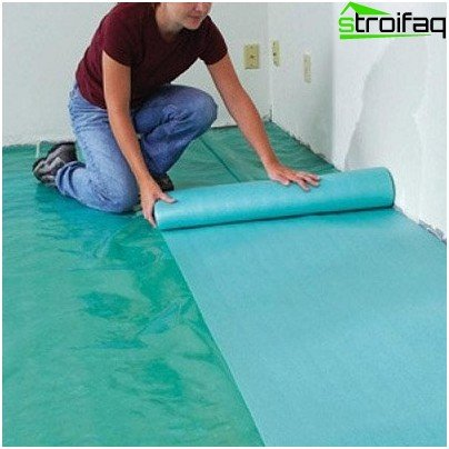 Laying laminate substrate under
