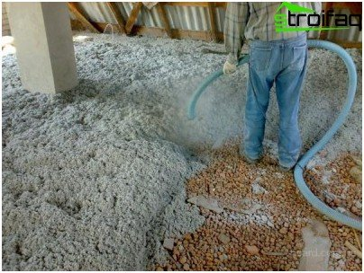 Application of cellulose insulation