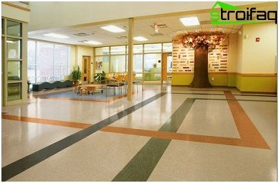 Vinyl tiles for commercial establishments