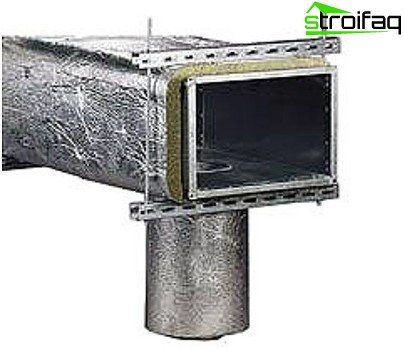 Galvanized rectangular duct with insulation