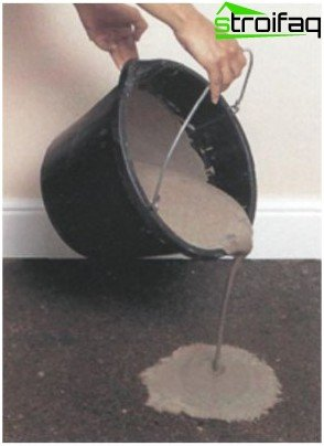 Fill it with a mixture of self-leveling on uneven floor