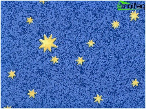 Wallpaper for children's: Non-woven starry sky