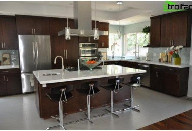 kitchen and living room combined. Kitchen  The design of the kitchen living room Photo Top 50