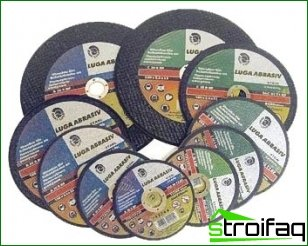 Selection of the abrasive wheel