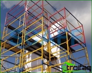 Budget solution in the repair and construction - scaffolding