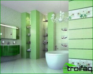 Green tile interior bathroom