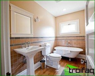 The idea of arrangement of the bathroom
