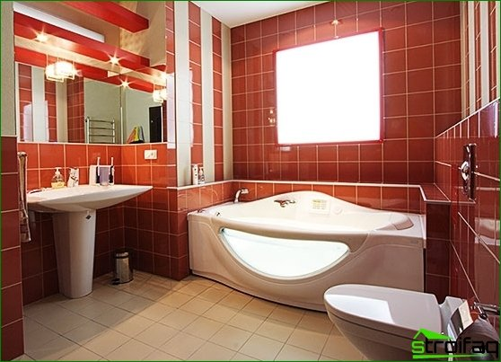 The choice of interior style and design for the bathroom