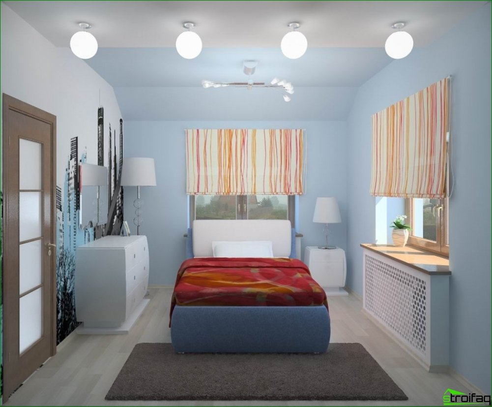 Design of a small bedroom. The main rules everything a small space.