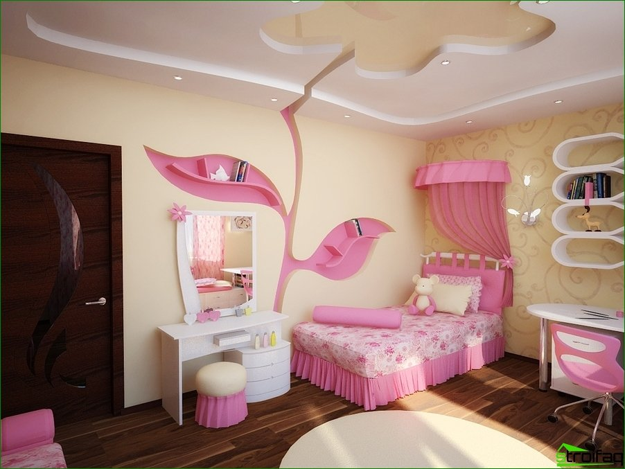 Interior nursery for girls with unusual design elements