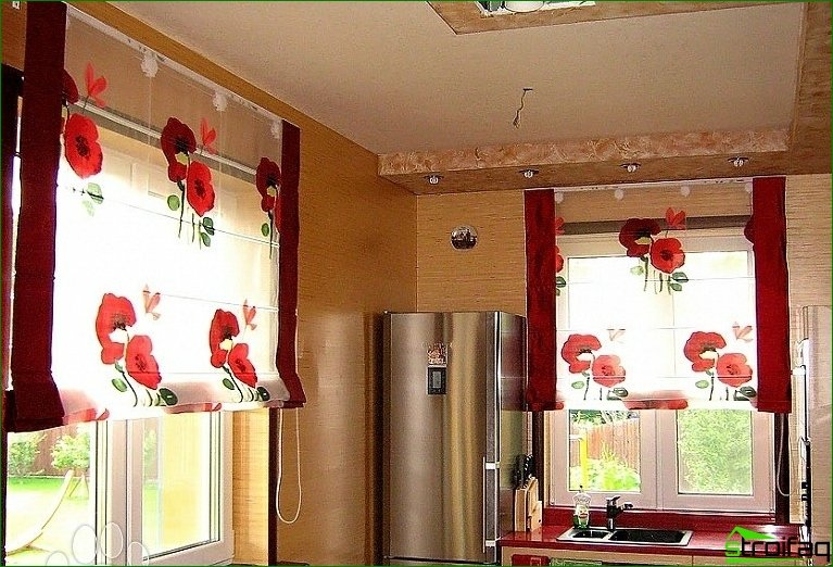 Features and advantages of Roman blinds