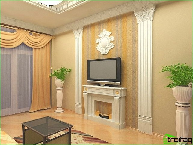 Decorative moldings of polyurethane in modern interiors