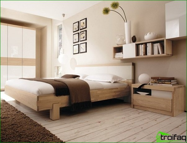 The beds in the interior of a bedroom