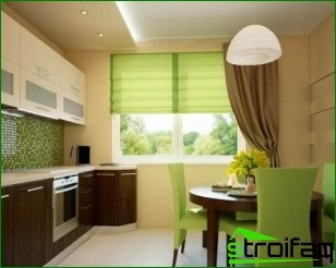 Dining room furniture in the interior of the kitchen