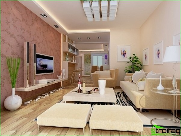Interior Design. Living room with a small area