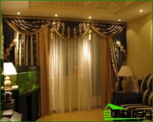 Curtains and their important role in the interior of the apartment
