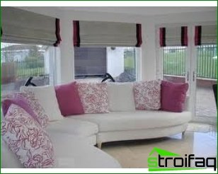 Roman blinds - make the interior of the original