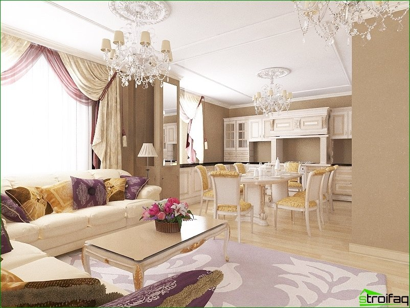 Classic style in the interior of the apartment