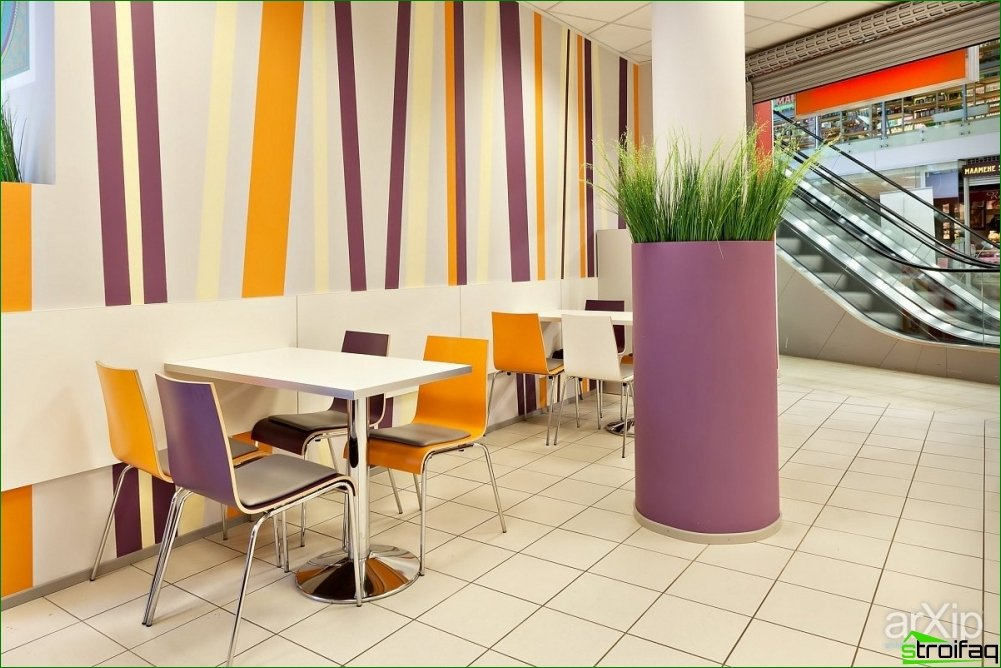 How to design the interior of a fast food restaurant