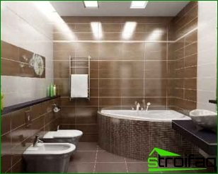 Ergonomic LED lamps for bathrooms