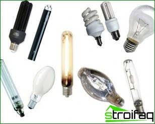 Types of lighting lamps