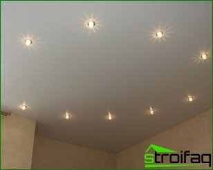 Fixtures in stretch ceilings