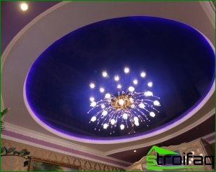 Features illumination of suspended ceilings