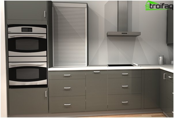 Recessed cabinets for equipment from Ikea - 3