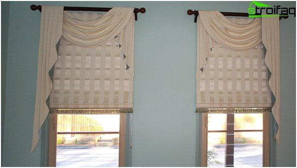 Roman blinds for the bedroom - 1
