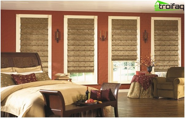Roman blinds for the bedroom - 5