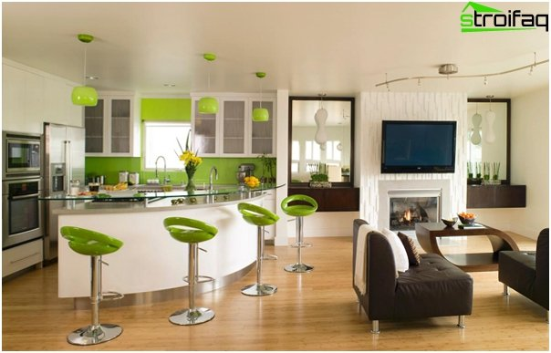 Kitchen, combined with a living room - 01