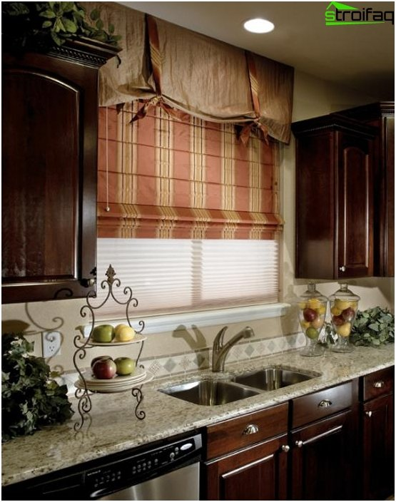 Roman blinds for the kitchen - 2