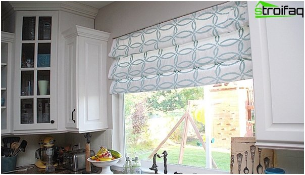 Roman blinds for the kitchen - 4