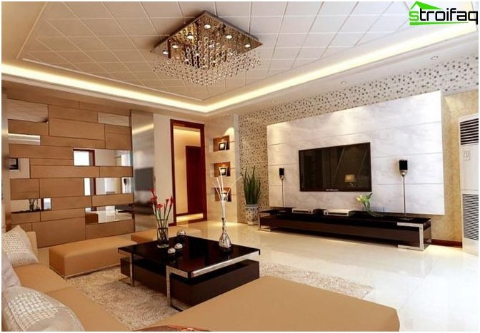 Design ceiling living room