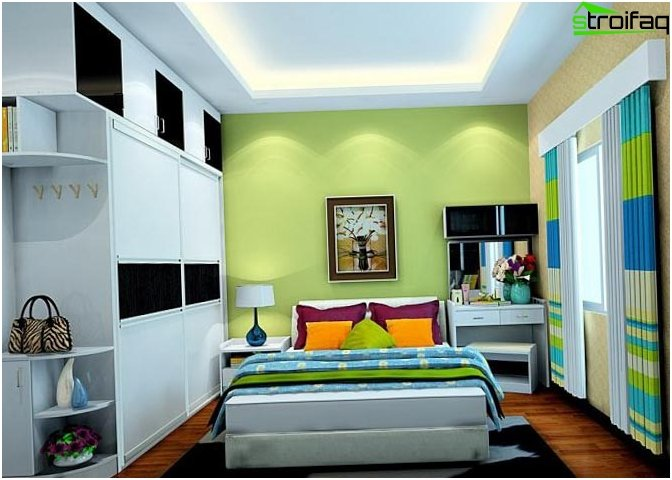 Design ceiling in the bedroom