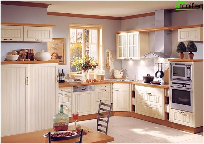 Corner kitchen in Scandinavian style